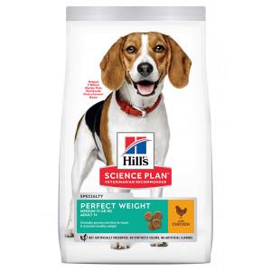 Hill's Adult Perfect Weight Medium met kip hondenvoer