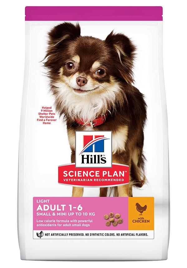 Hill's Adult Light Small & Mini kip hondenvoer
