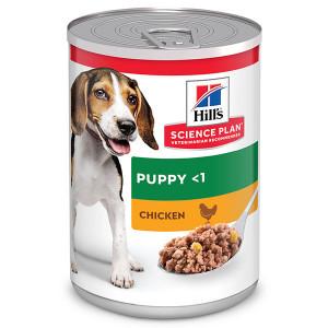 Hill's Puppy Kip blik hondenvoer 1 tray (12 blikken)