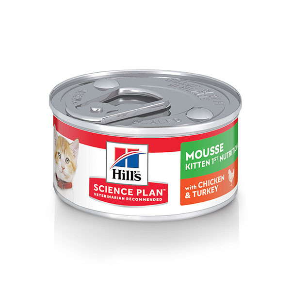 Hill's Kitten First Nutrition Mousse kattenvoer blik 82 g