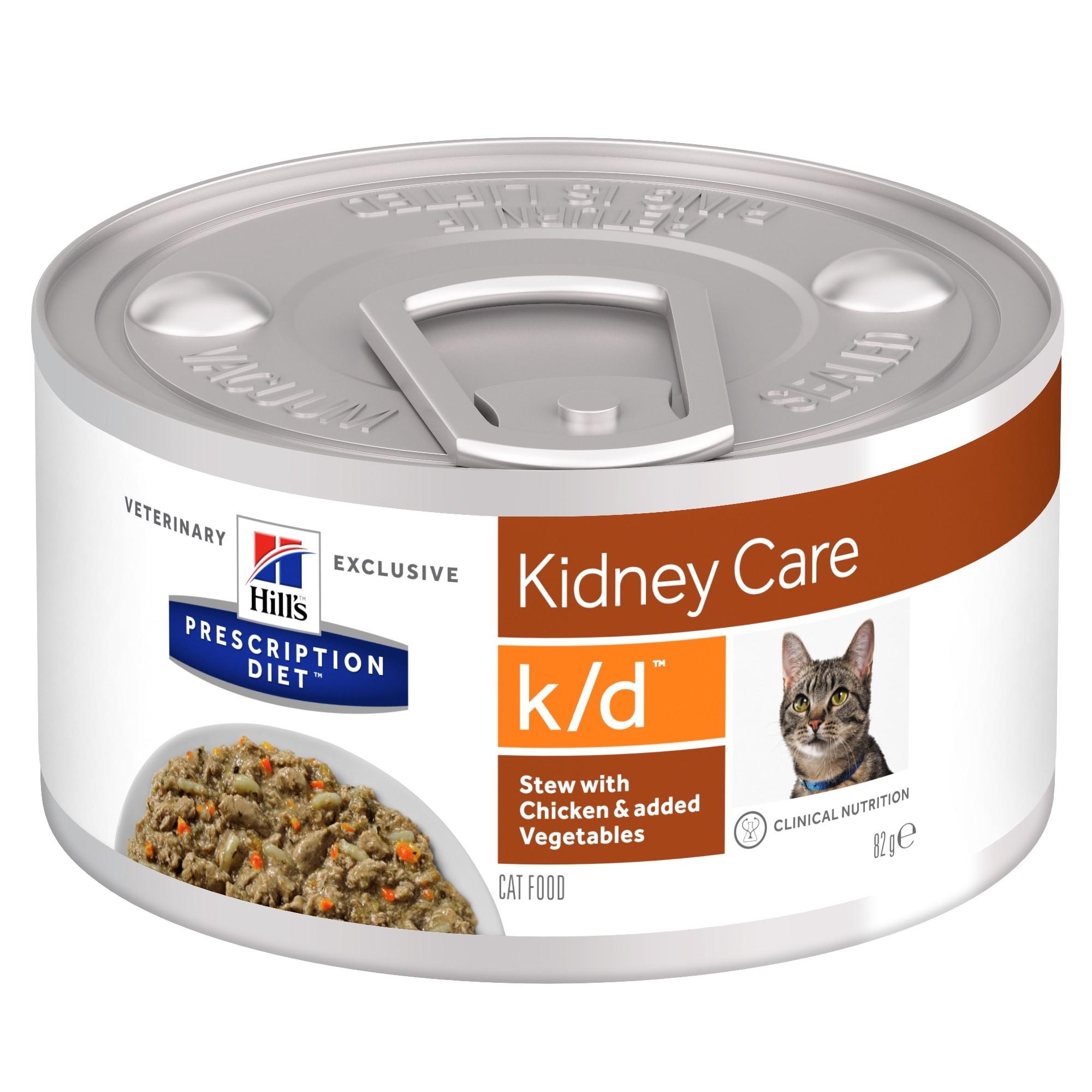 Hill's Prescription Diet K/d Stoofpotje kip & groenten kattenvoer 82g