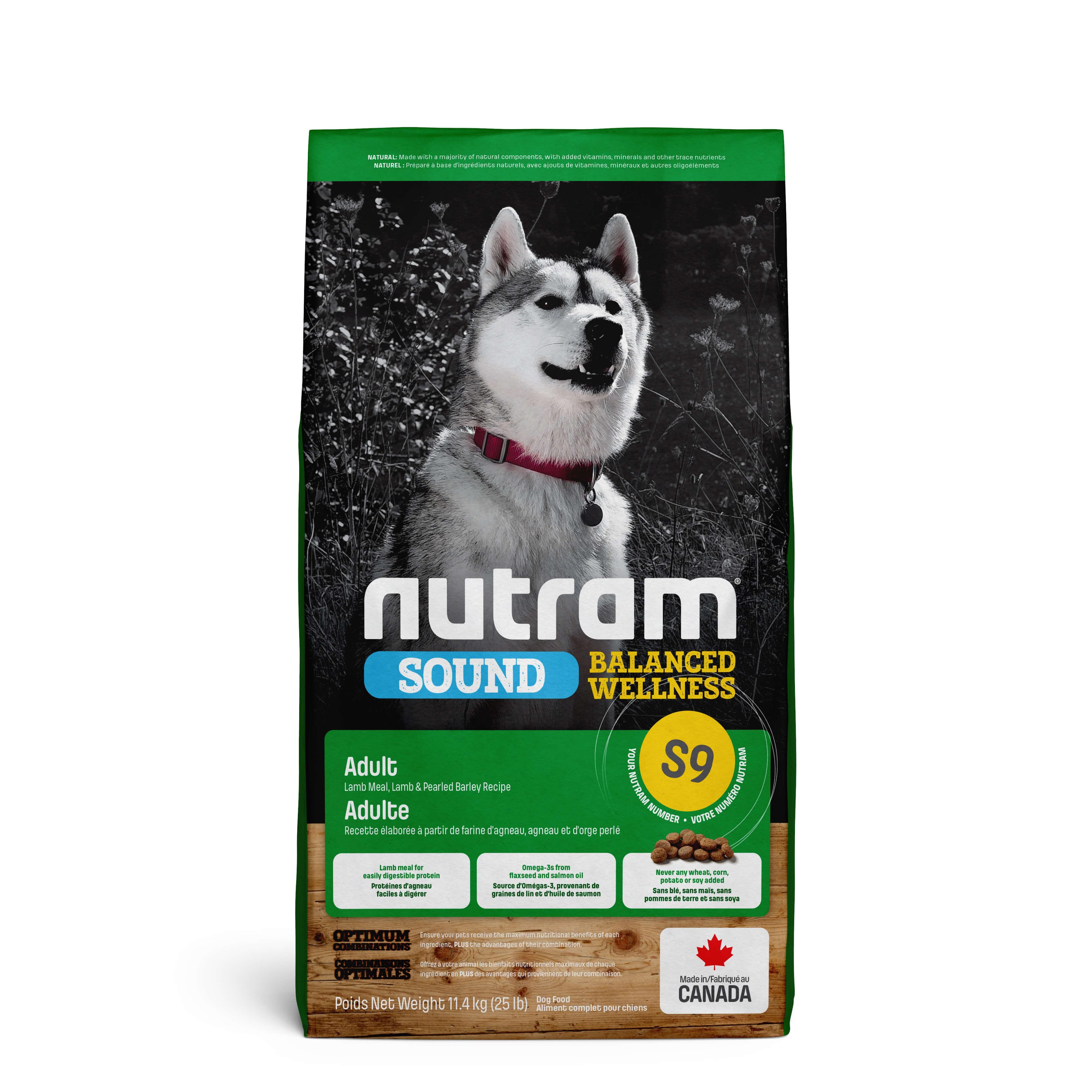 Nutram Sound Balanced Wellness Adult Lam S9 hond