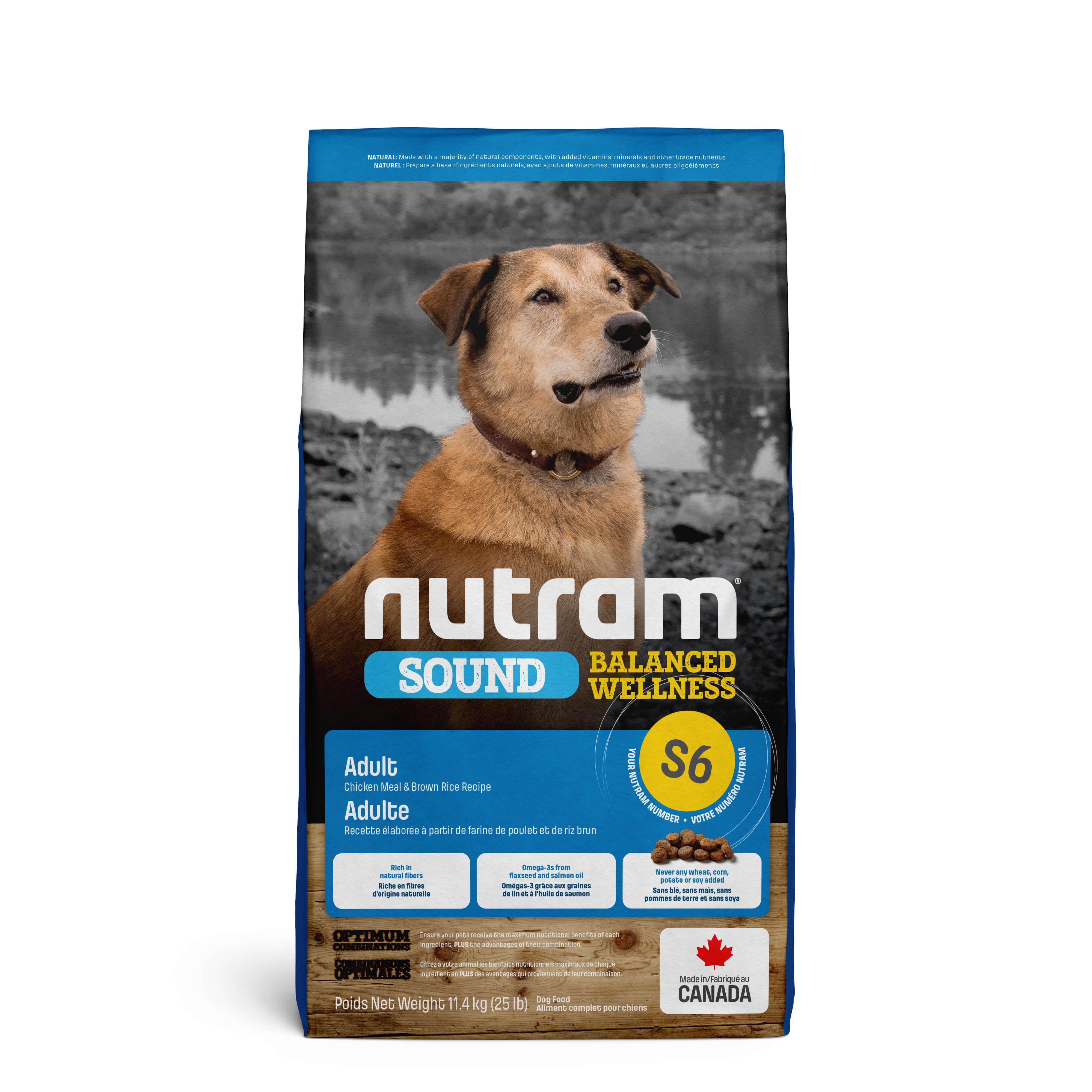 Nutram Sound Balanced Wellness Adult S6 hond