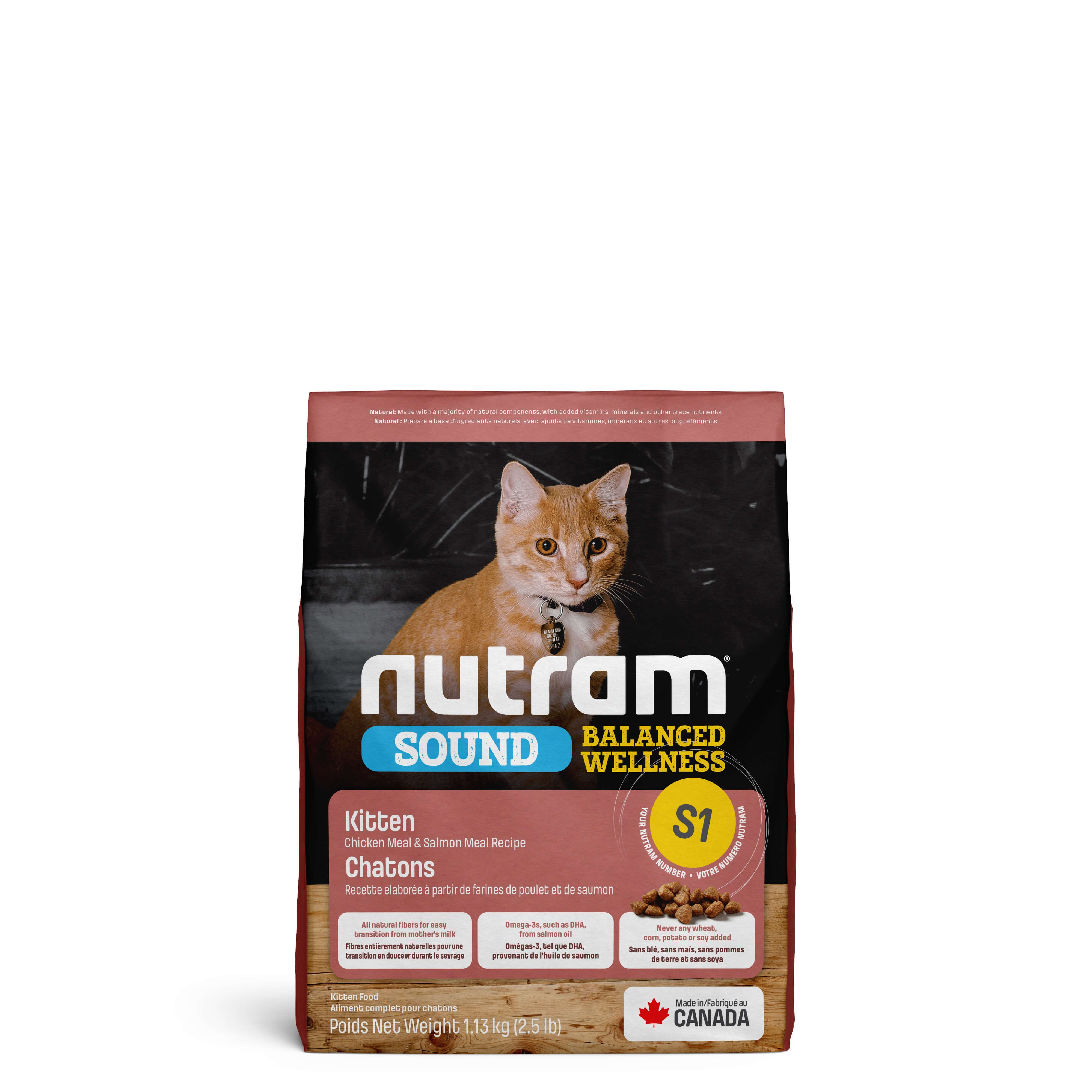 Nutram Sound Balanced Welness Kitten S1 kattenvoer OP is OP