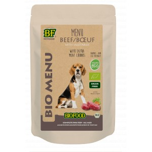 Biofood Organic Rund menu pouch 150 gr hondenvoer 2 x (15 x 150 gr)