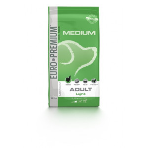 Euro Premium Medium Adult Chicken & Rice Light hondenvoer