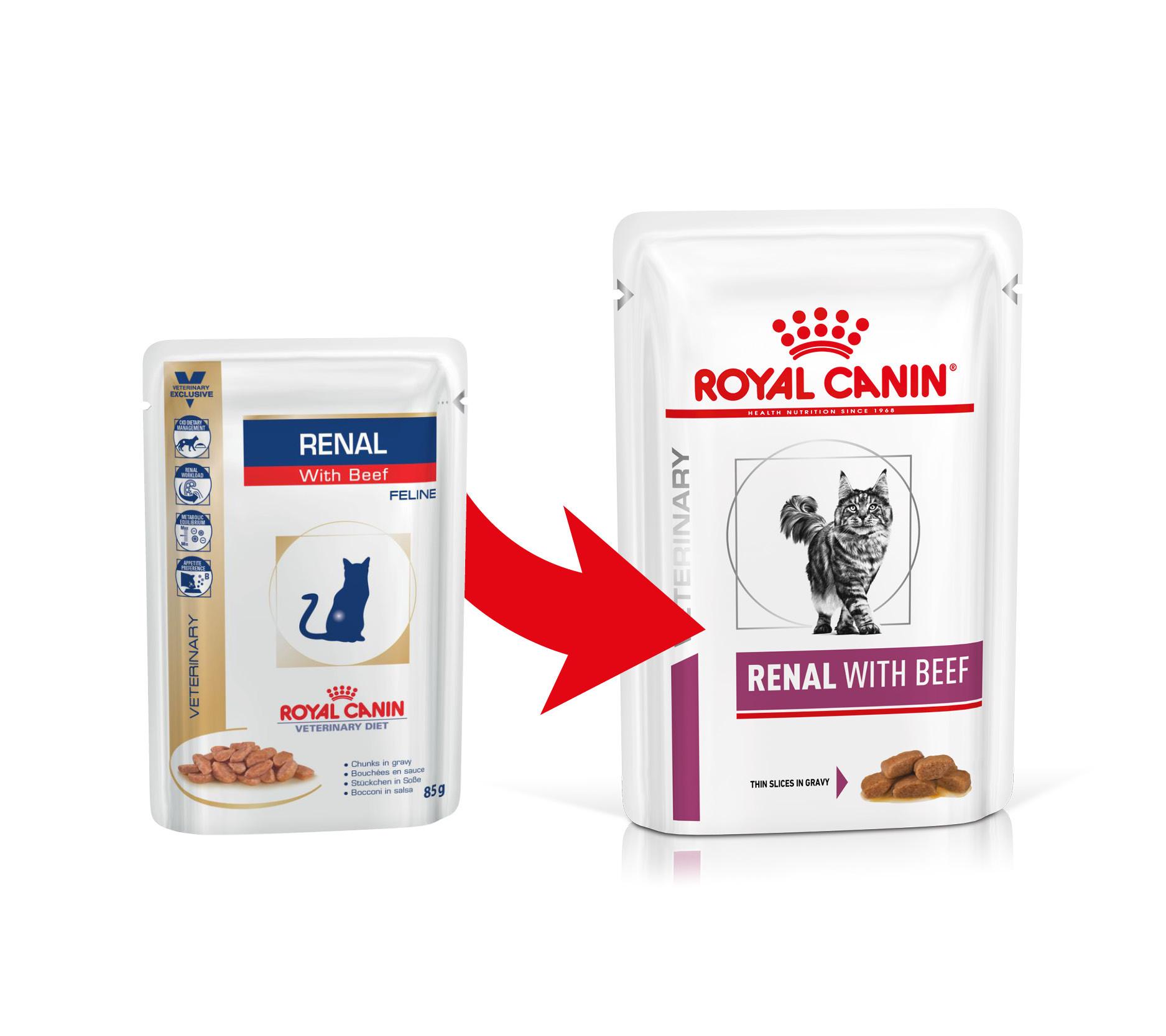 Royal Canin Veterinary Diet Renal with Beef zakjes kattenvoer