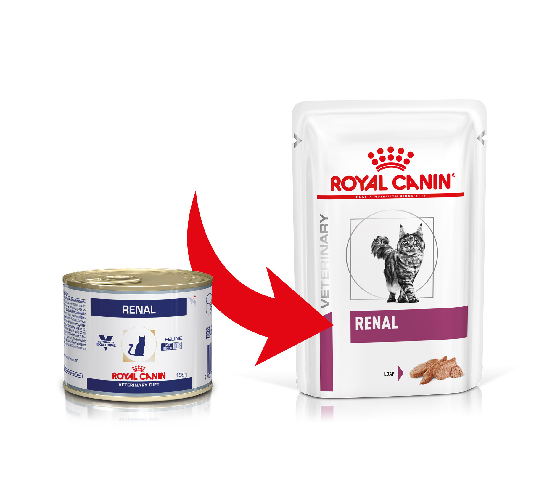 Royal Canin Veterinary Diet Renal 195 gr blik kattenvoer OP is OP
