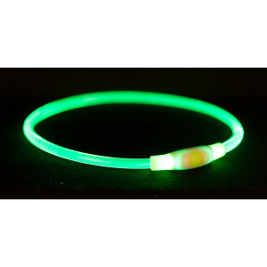 Flash lichthalsband 65 cm groen voor de hond
