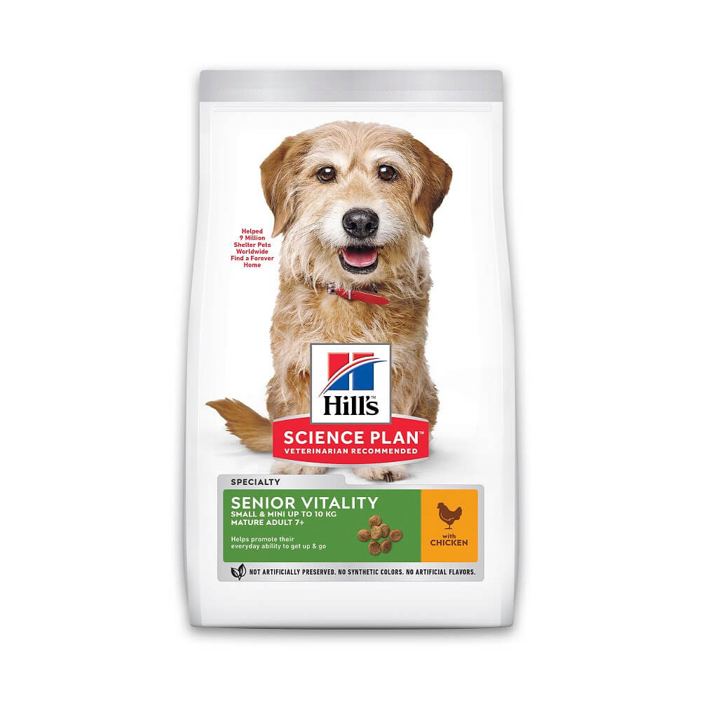 Hill's Mature Adult Senior Vitality Small & Mini kip hondenvoer