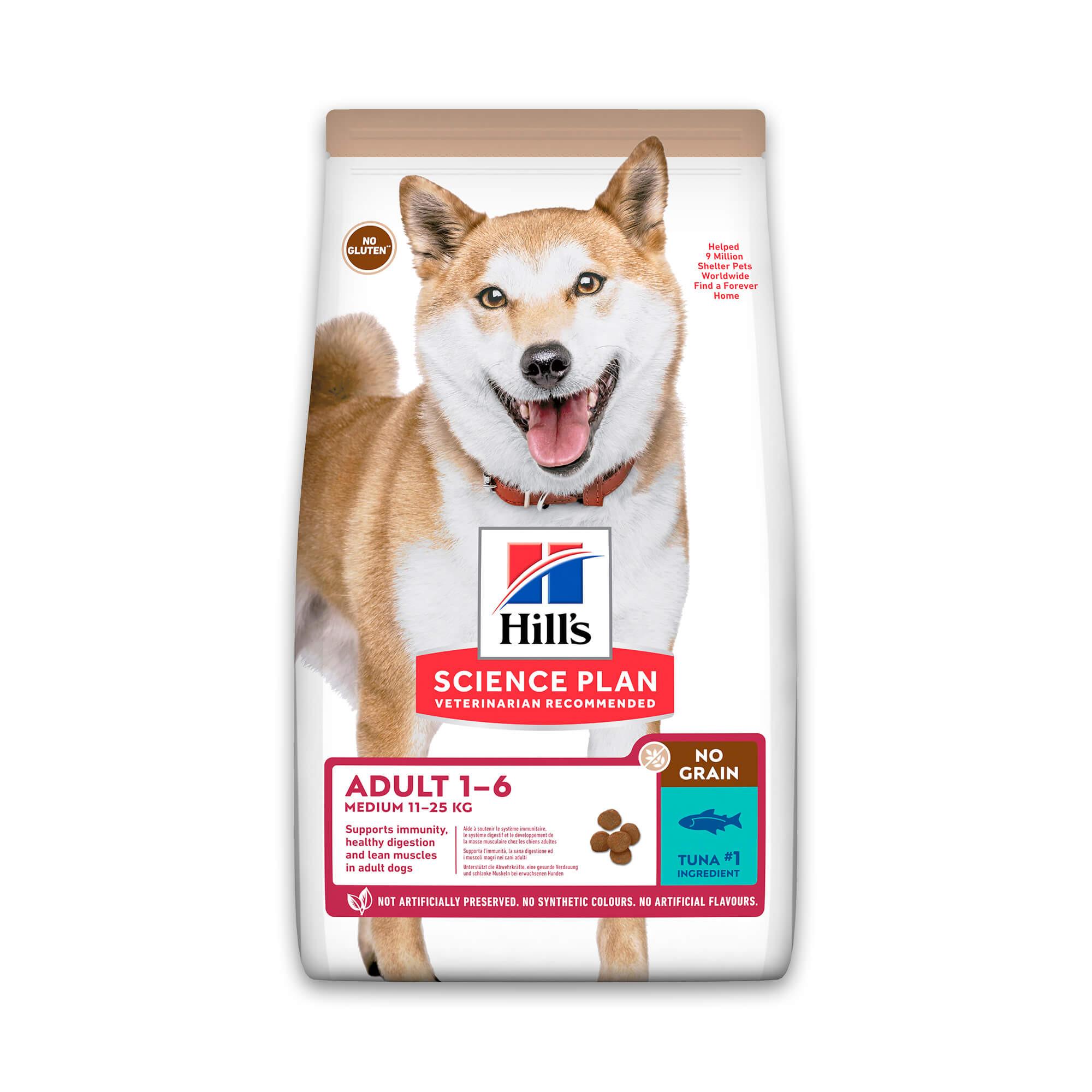 Hill's Adult Medium No Grain met tonijn hondenvoer