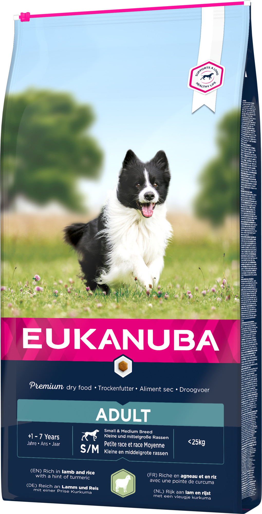 Eukanuba Adult Small Medium lam & rijst hondenvoer