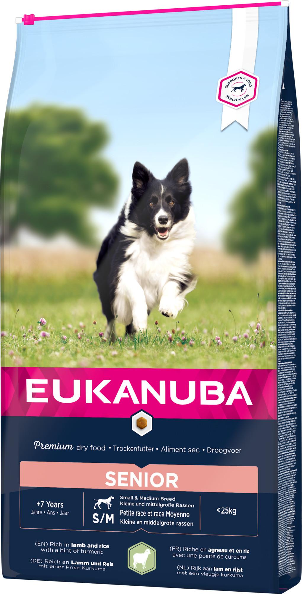 Eukanuba Senior Small Medium Lam & Rijst hondenvoer