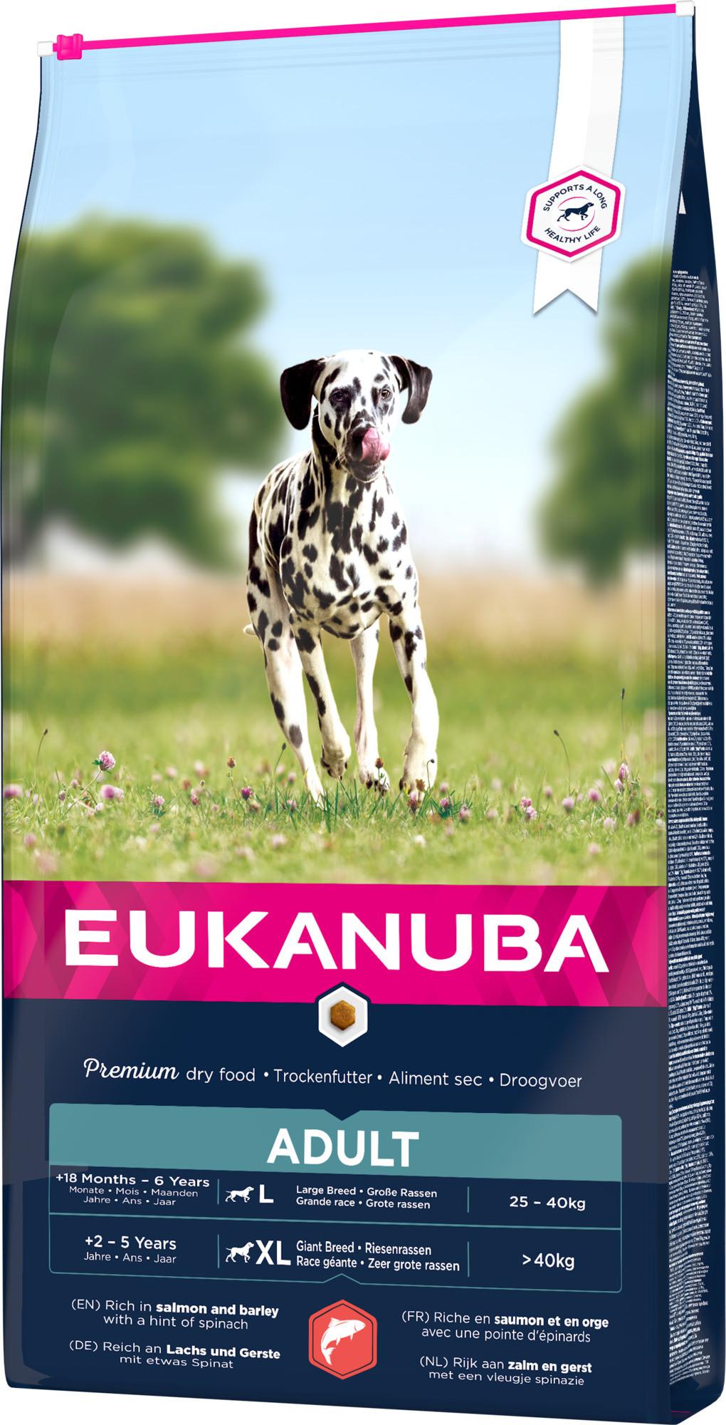 Eukanuba Adult Large Zalm & Gerst hondenvoer