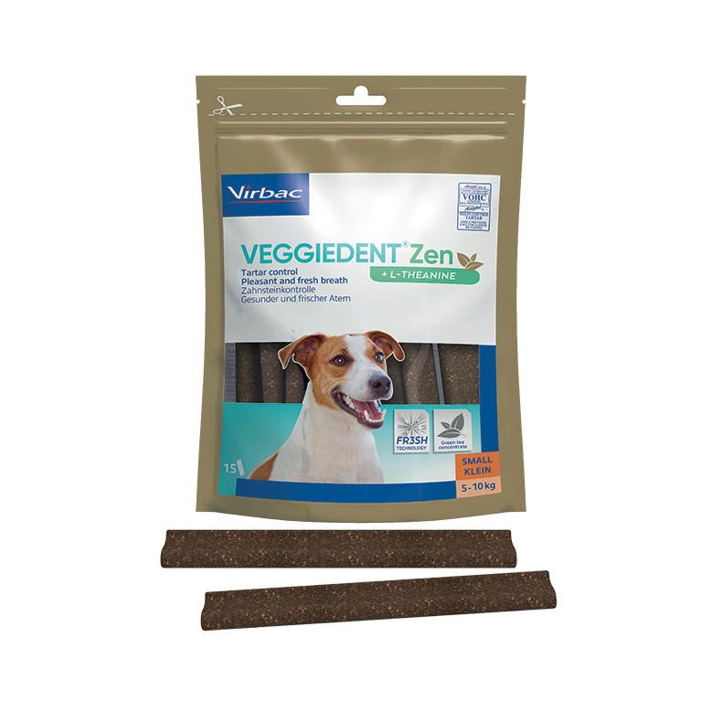 Virbac VeggieDent Zen Small hondensnack 5-10 kg/15 kauwstrips