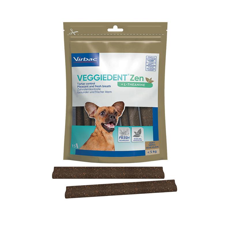 Virbac VeggieDent Zen Extra Small hondensnack tot 5 kg/15 kauwstrips
