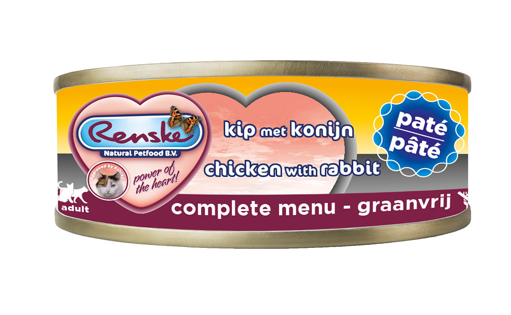 Renske paté kip & konijn nat kattenvoer (70 gram)