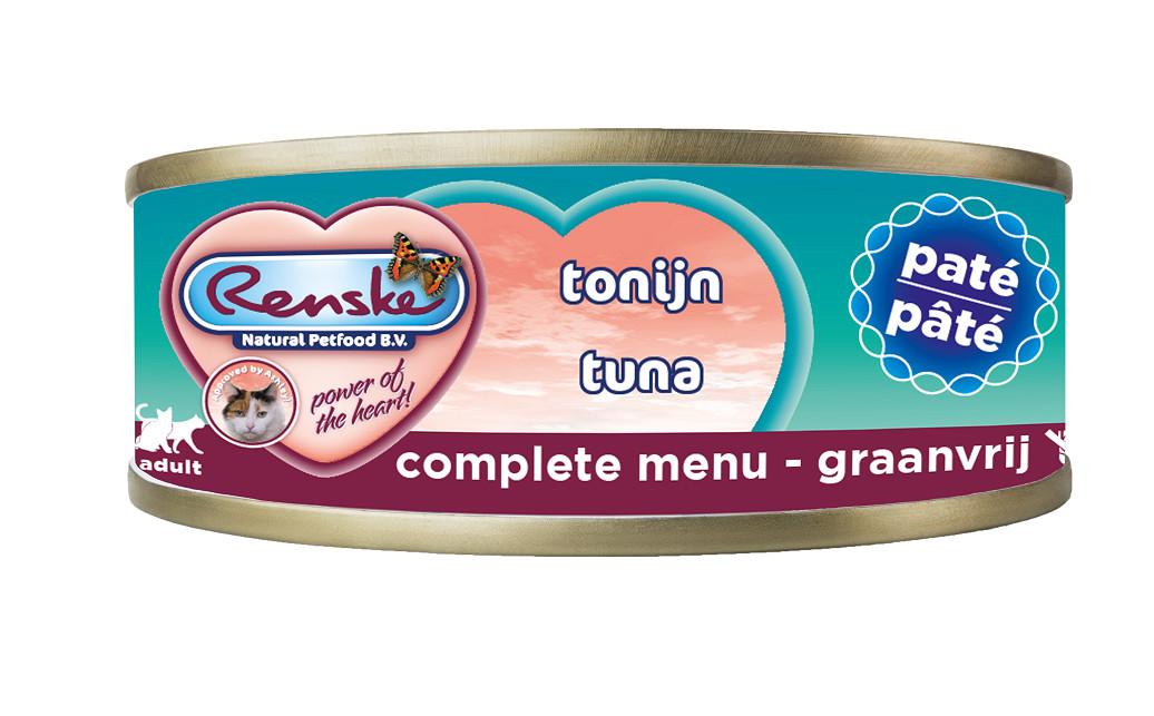 Renske paté tonijn nat kattenvoer (70 gram)