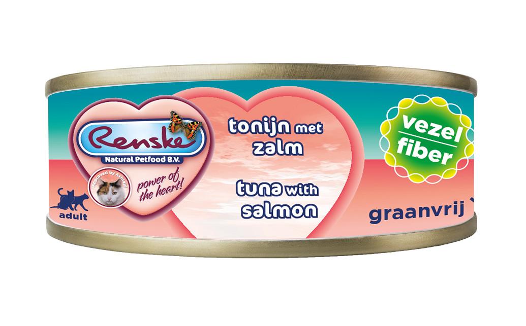 Renske vezel tonijn met zalm nat kattenvoer (70 gram)