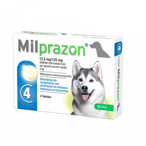 Milprazon Ontwormingsmiddel hond (5-75 kg) 2 Tabletten