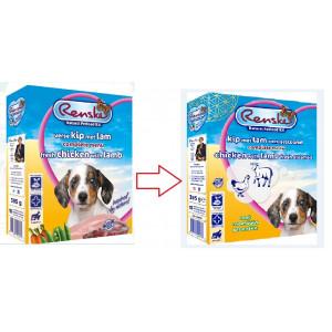 Renske Puppy/Junior vers gestoomde kip lam hondenvoer (395 gr)