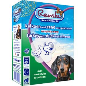 Renske vers gestoomde kalkoen eend hondenvoer (395 gr)
