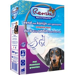 Renske vers gestoomde eend en konijn hondenvoer (395 gr)