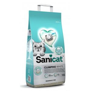 Sanicat Clumping White kattengrit geurloos 10L