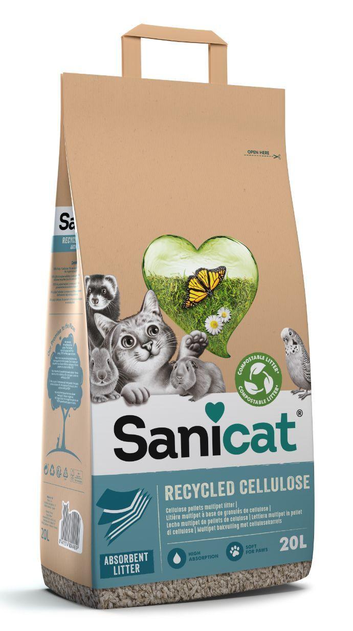 Sanicat Recycled Cellulose Kattengrit  20L