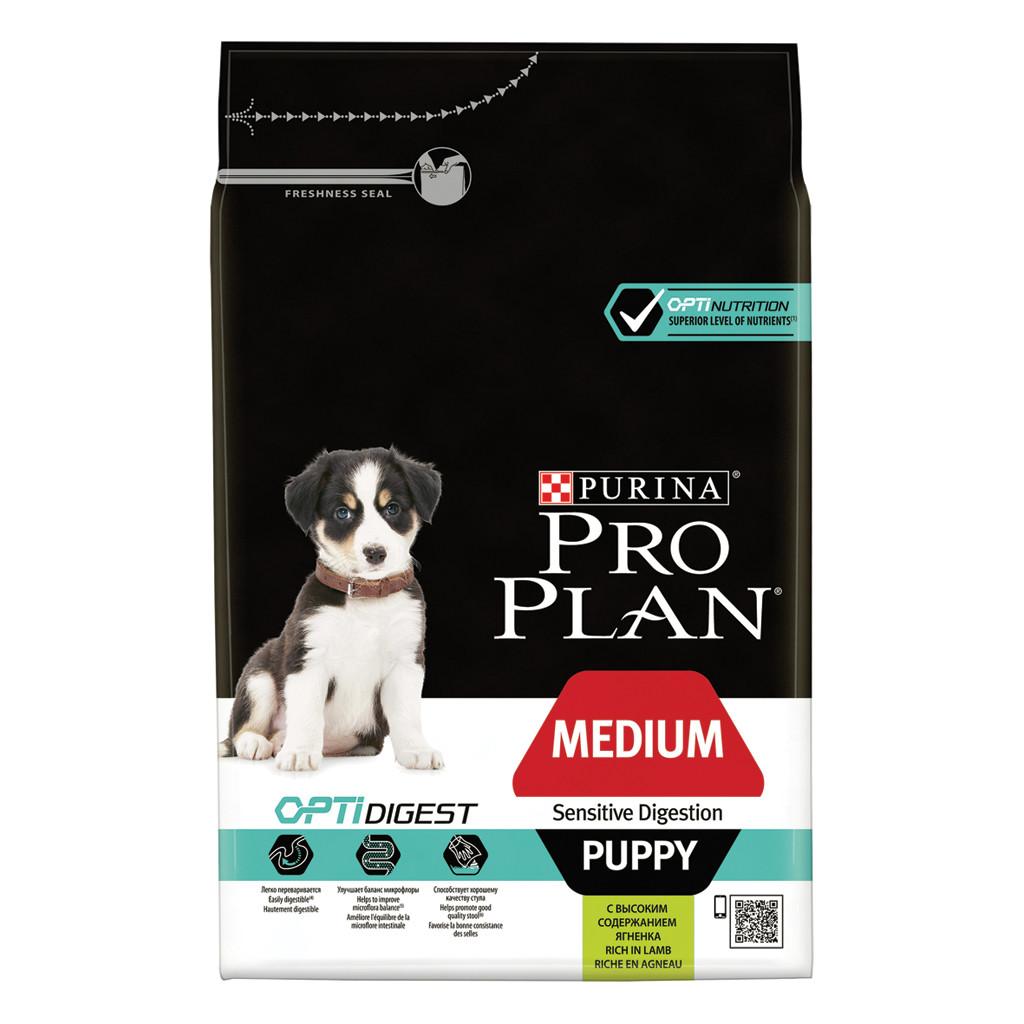 Pro Plan Medium Puppy Sensitive Digestion Optidigest Lam hondenvoer