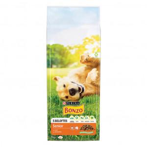 Purina Bonzo Senior hondenvoer met  kip en groenten