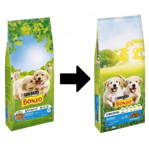 Purina Bonzo Junior met kip, groenten, melk hondenvoer