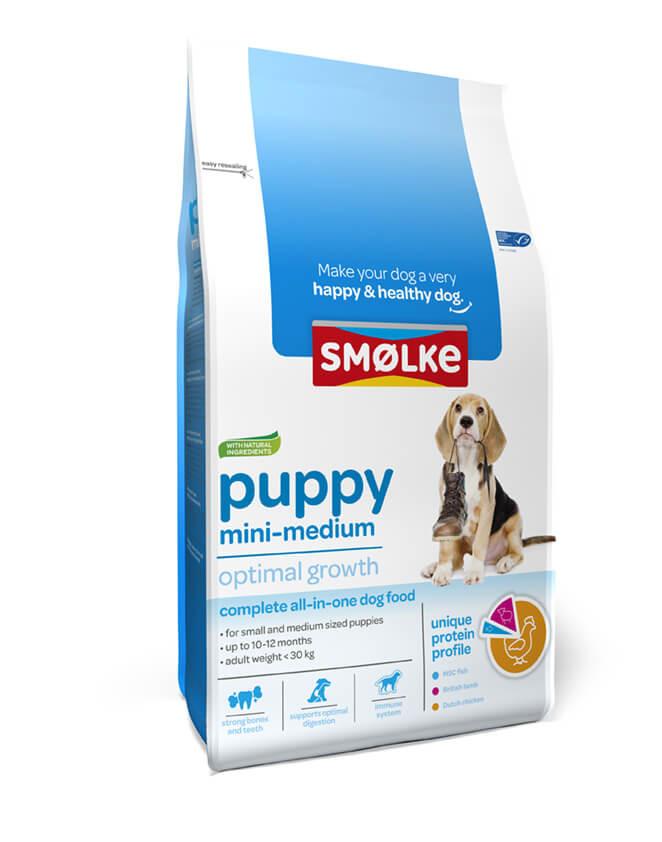 Smølke Puppy Mini-Medium hondenvoer