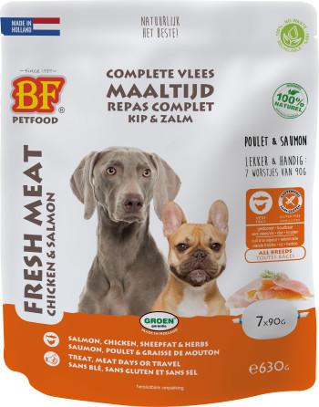 Biofood Vleesvoeding kip met zalm natvoer hond