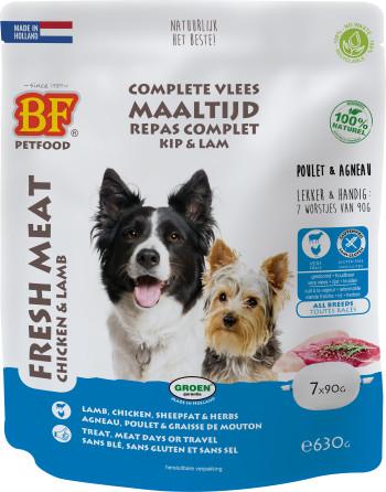 Biofood Vleesvoeding kip met lam natvoer hond