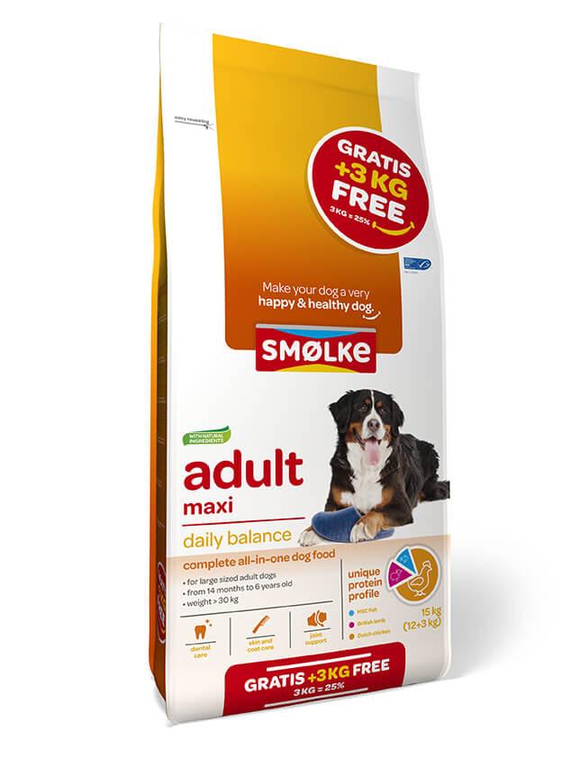 Smølke Adult Maxi hondenvoer