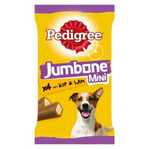 Pedigree Jumbone Mini Kip & Lam Hondensnacks
