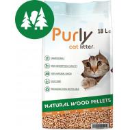 Purly houtkorrels kattenbakvulling