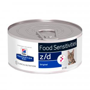 Hill's Prescription Z/D Food Sensitivities kattenvoer 156 g blik