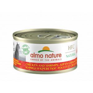 Almo Nature Natural Kip en Garnaaltjes 70 gr