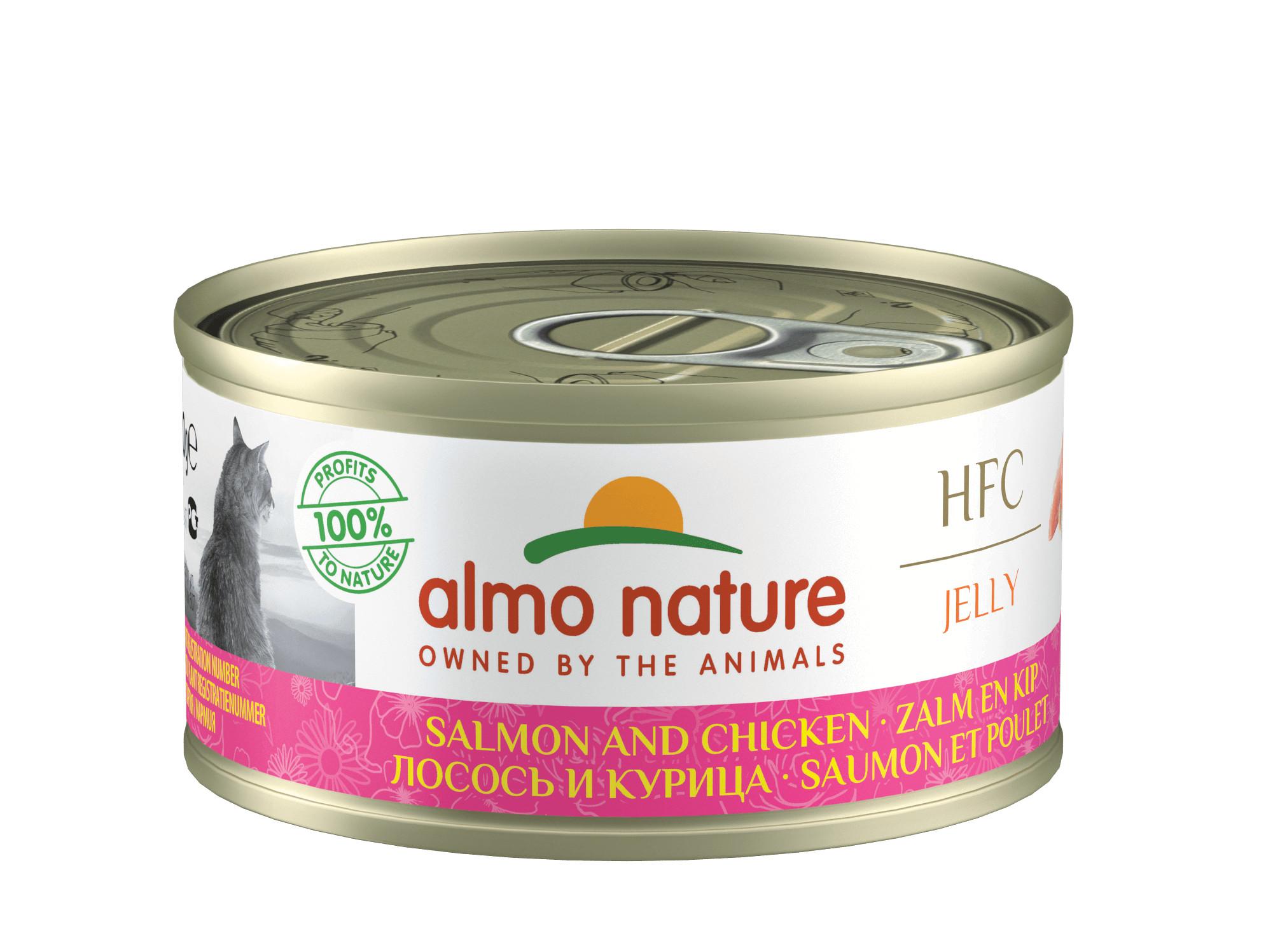 Almo Nature Jelly Zalm en Kip 70 gr