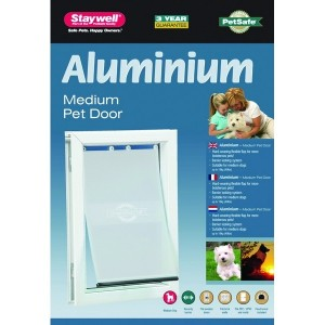 Staywell 620 Medium Aluminium Pet Door Per stuk