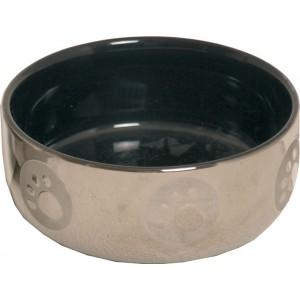 Katteneetbak royal zilver-zwart
