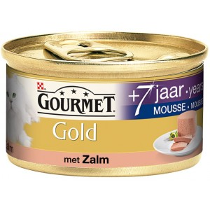 Gourmet Gold Mousse met Zalm 7 per blikje OP is OP