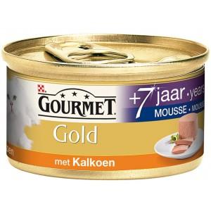 Gourmet Gold Mousse met Kalkoen 7 per blik (OP is OP)