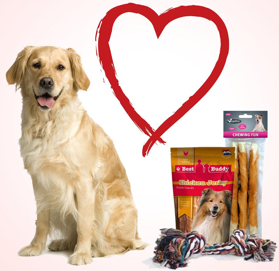 Valentijnspakket voor grote honden