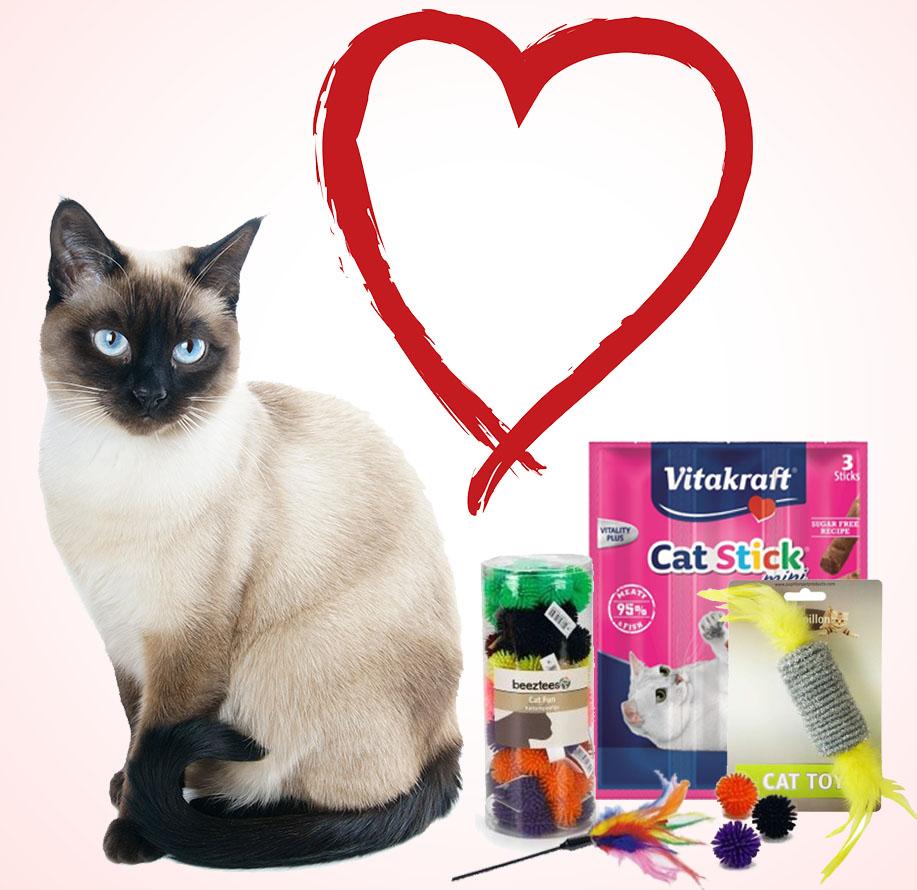 Valentijnspakket voor katten