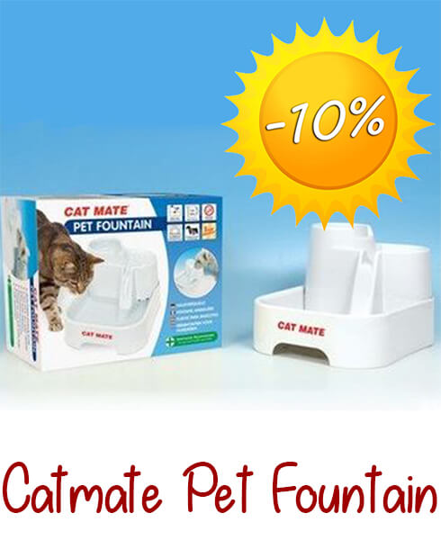 Catmate Multi Level Water Fountain voor kat en hond