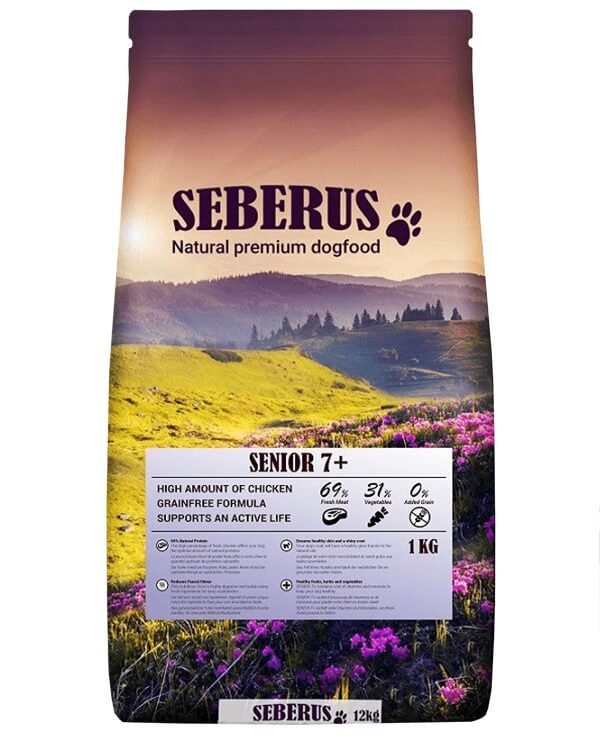 Seberus Senior 7+ - natuurlijk graanvrij hondenvoer 4 x 1 kg